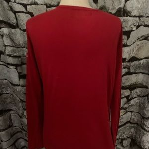 Abercrombie red l/s shirt